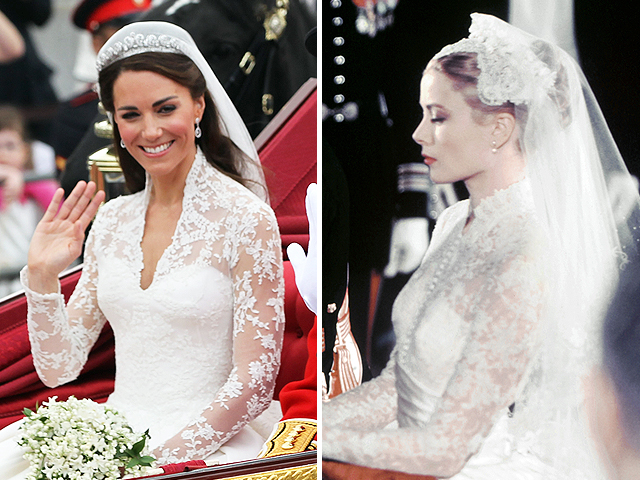 Grace Kelly Wedding Dress.Grace Kelly Seen As Inspiration For Kate Middleton S Gown Cbs News