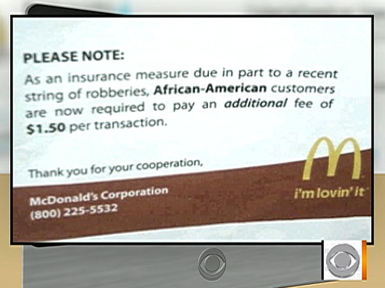 McDonald\'s racist Twitter message was hoax - CBS News