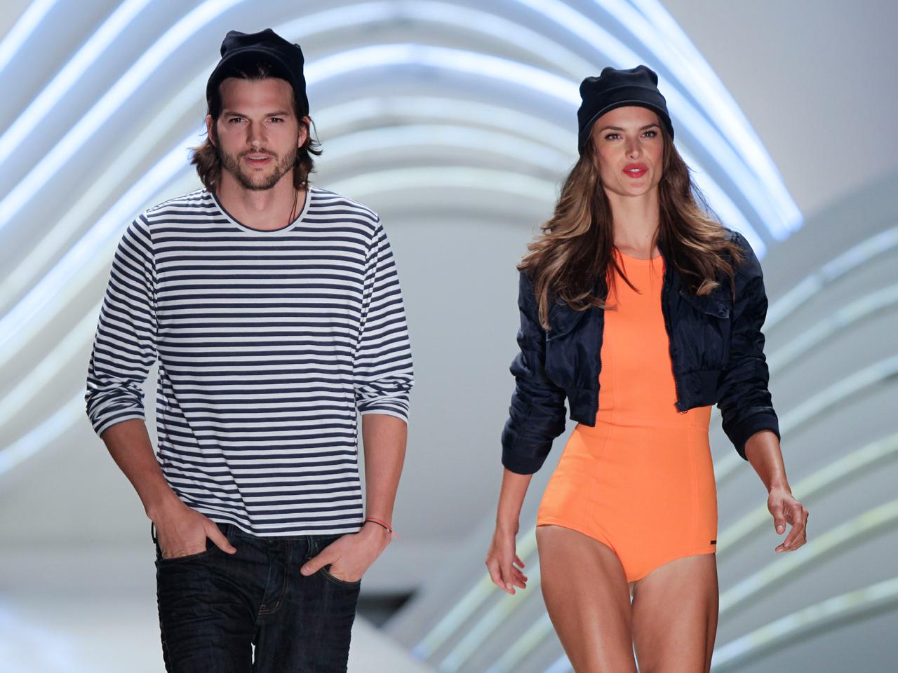 Asthon Kutcher Hits The Catwalk At Sao Paulo Fashion Week Cbs News