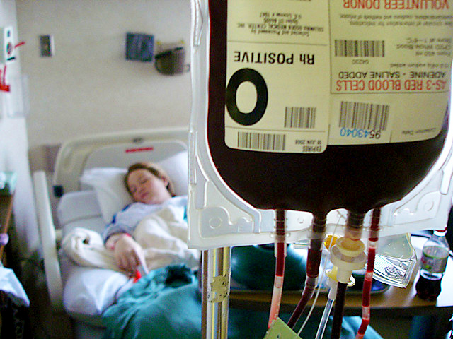 Jehovah's Witnesses who refuse blood transfusions after cardiac