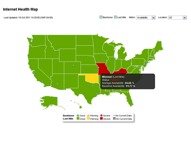 Internet Health Map Awesome! Interactive Interhealth map checks your state's