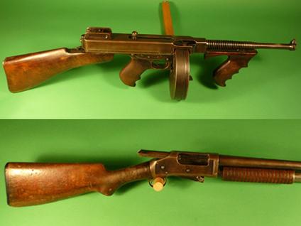 $210K for Bonnie & Clyde Tommy Gun, shotgun - CBS News