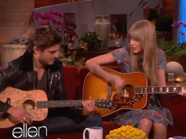 Taylor Swift And Zac Efron Cover Pumped Up Kicks On Ellen Cbs News