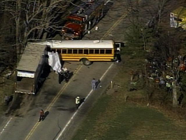 1 dead, others hurt in Pa  school bus, truck crash - CBS News