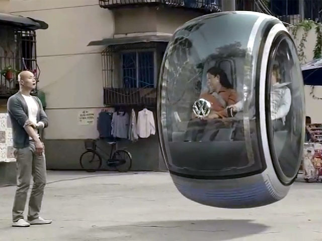 Video Of Volkswagen Concept Hover Car
