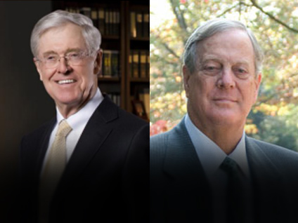 Controversial koch brothers criticized in new political ad for David koch usa