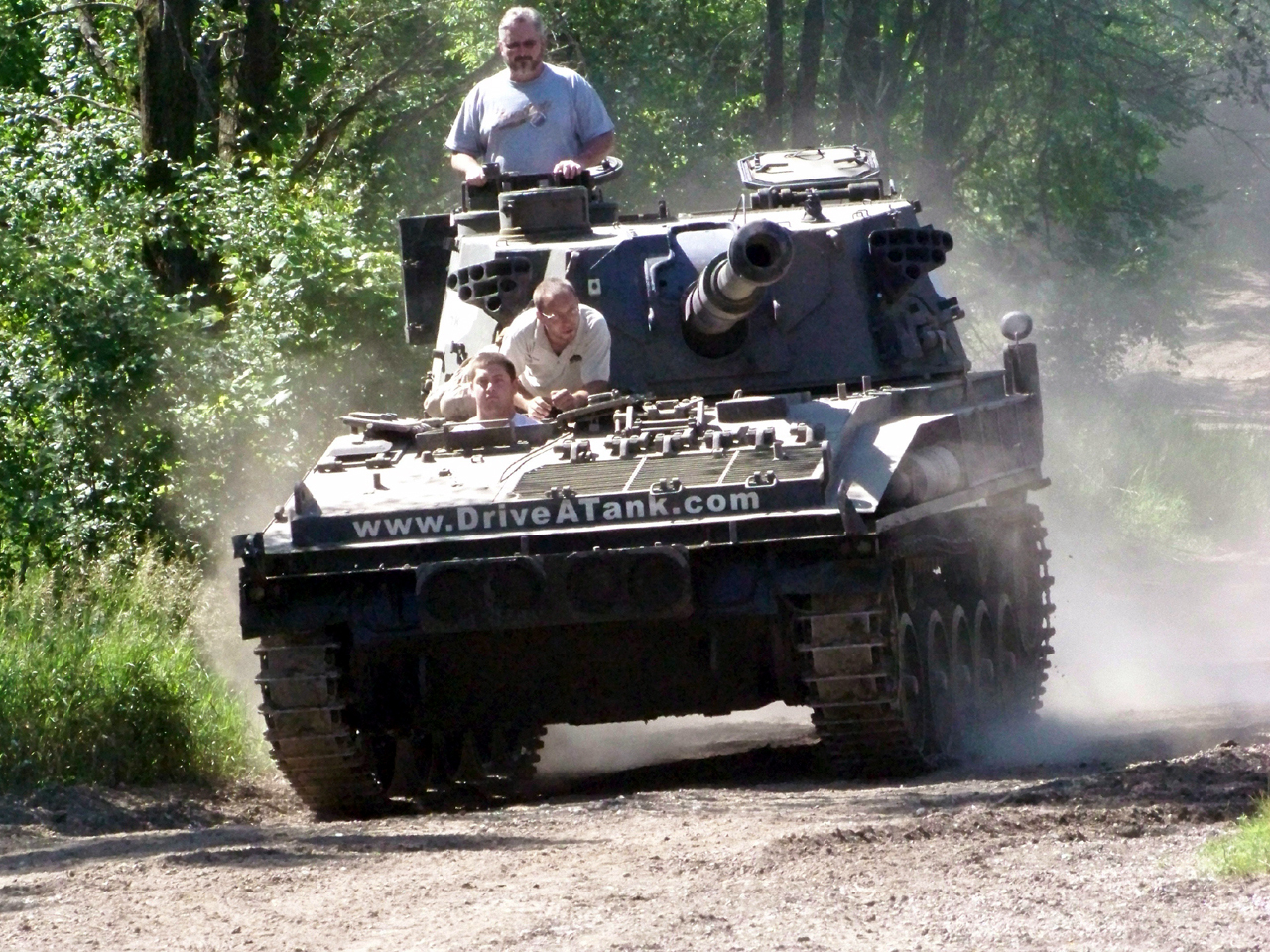 tank drive surplus military vehicles behind armored wheel puts minn quarry customers