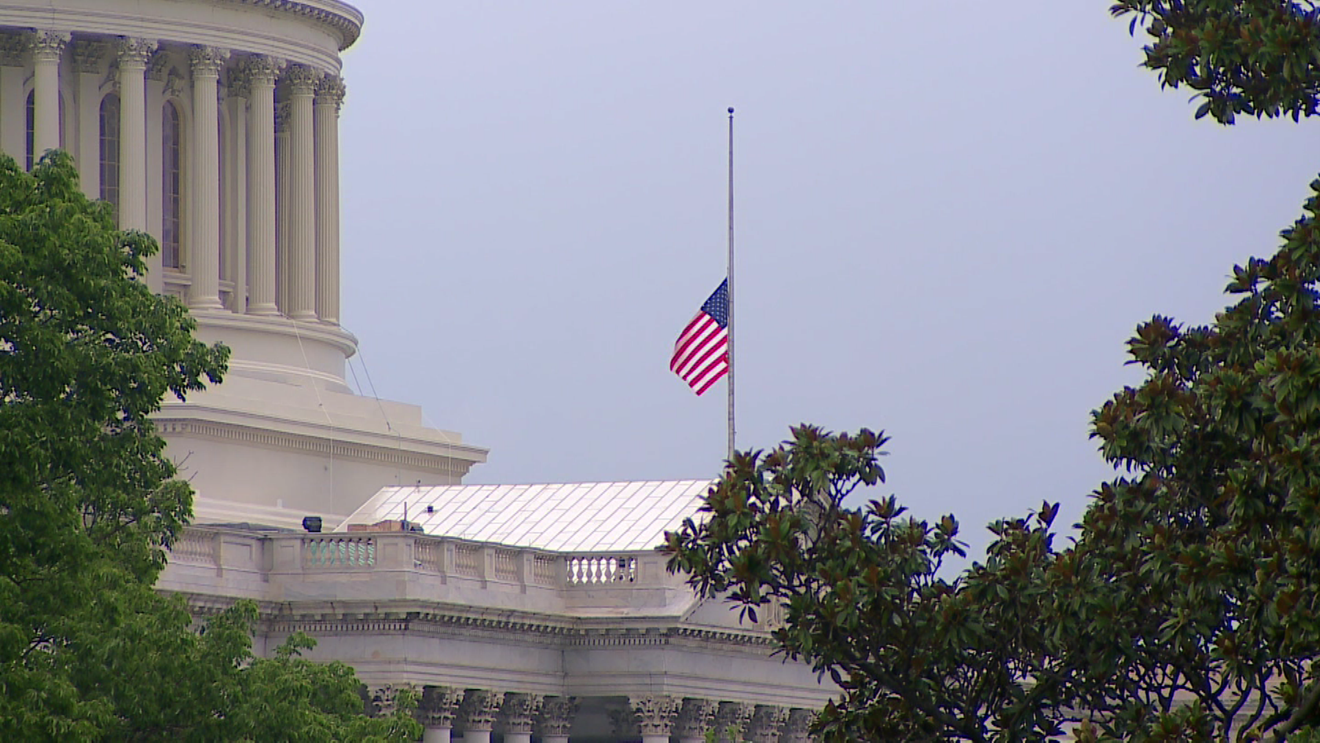 Cool Flags Lowered At White House Capitol Cbs News Download Free Architecture Designs Scobabritishbridgeorg