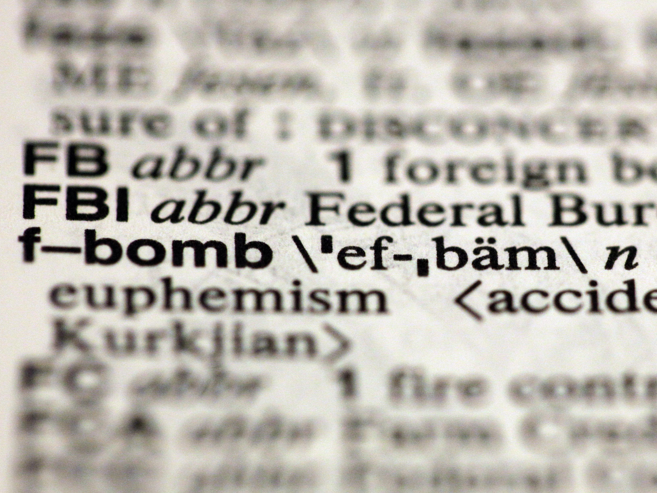 F-Bomb added to Merriam-Webster dictionary along with