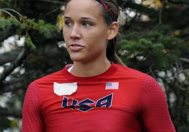 Olympic hurdler Lolo Jones and sprinting gold medalist ...