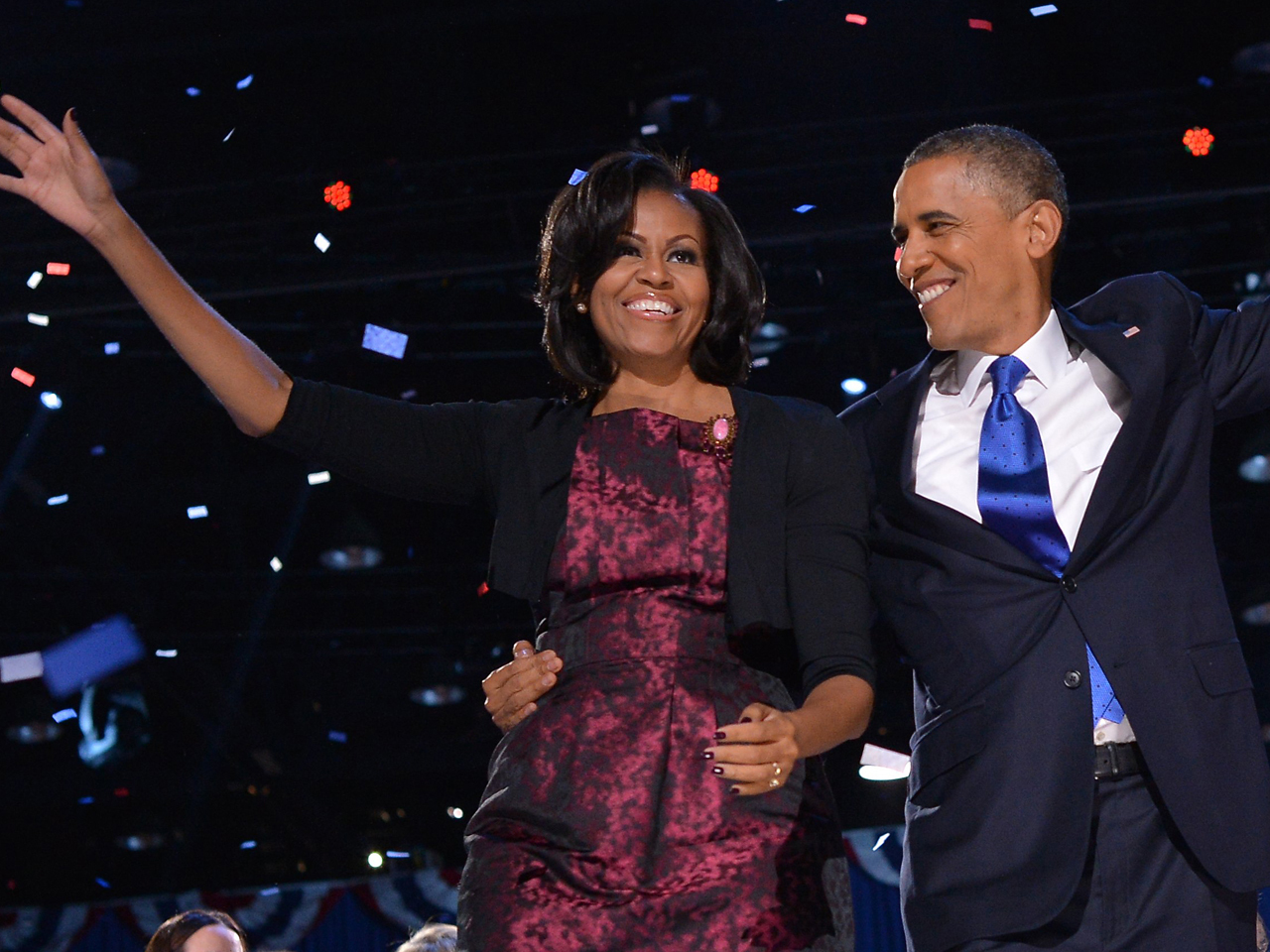 Obama michelle wears rodriguez on election night