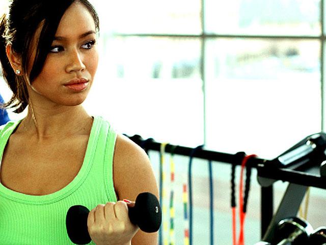 Young teen muscle girl