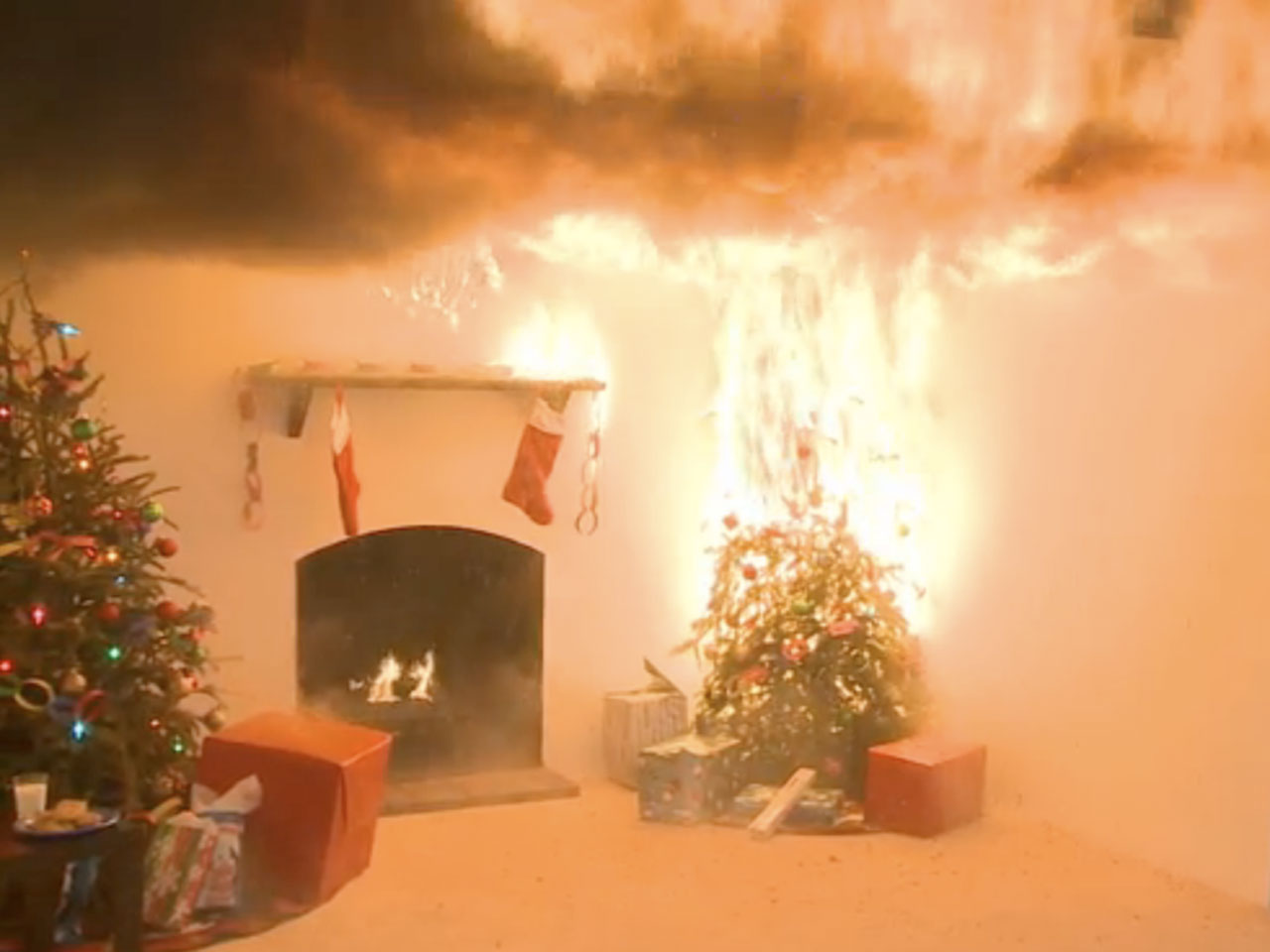 Keep Holiday Decorations From Becoming Fire Hazards Cbs News