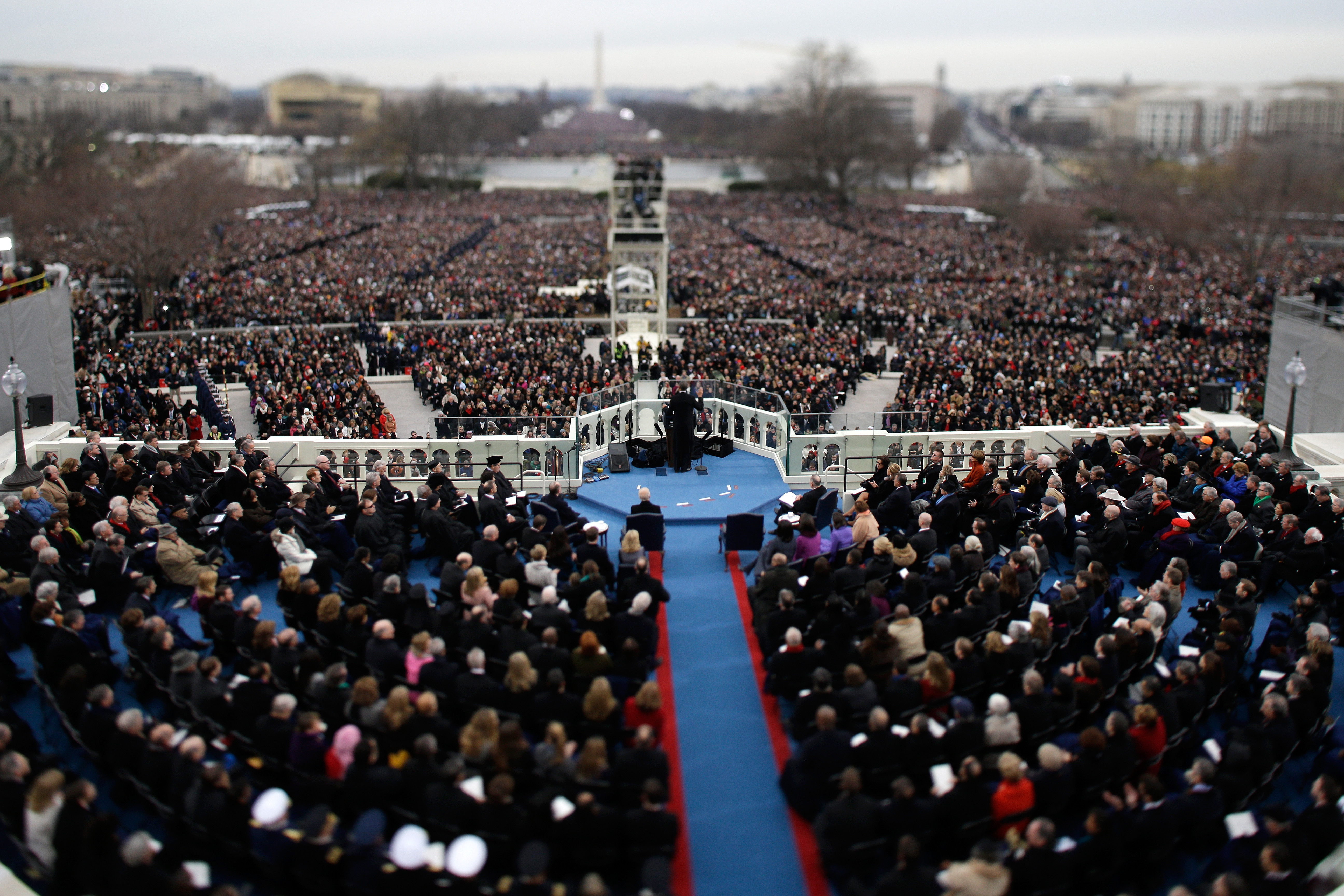 How many attended Obama's second inauguration? - CBS News