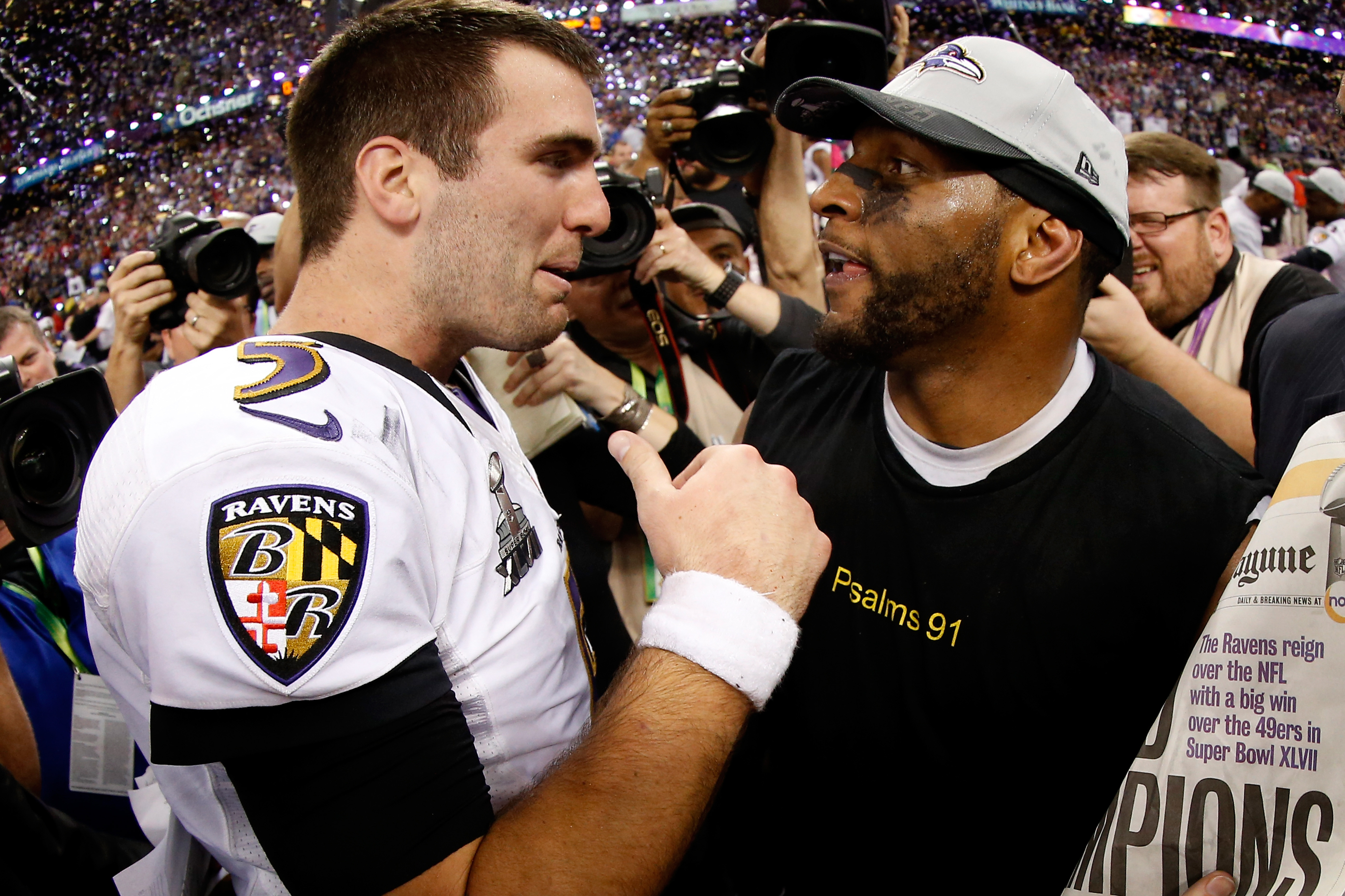 save off 8d51d 18430 Super Bowl 2013: Ravens withstand 49ers rally and power ...