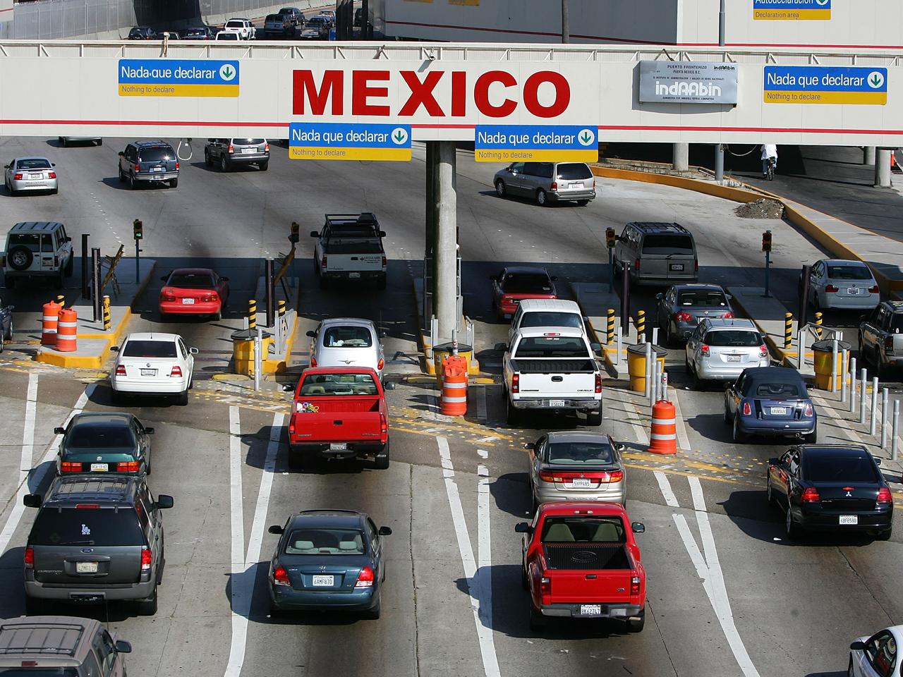 Prepare For A Torturous Border Crossing Into Tijuana CBS News - Google maps us border to rosarito mexico
