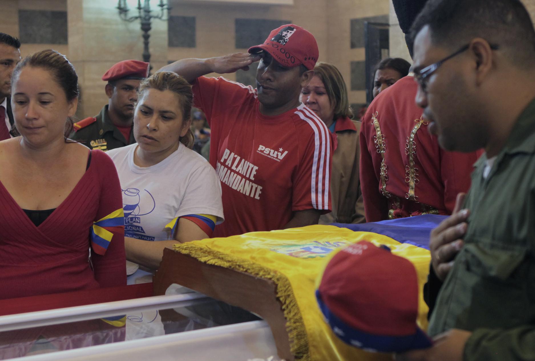 Hugo Chavez Embalmed Body