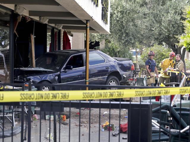 Ten people injured in car crash at Las Vegas restaurant, authorities