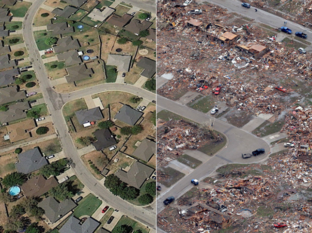 Oklahoma tornado: Before and after photos - Photo 1 ...