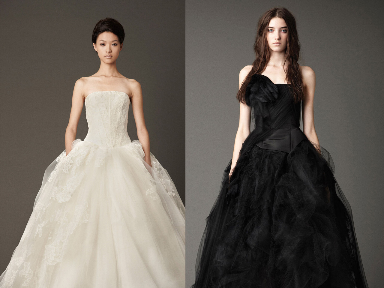 Vera Wang bridals, in black \u0026 white