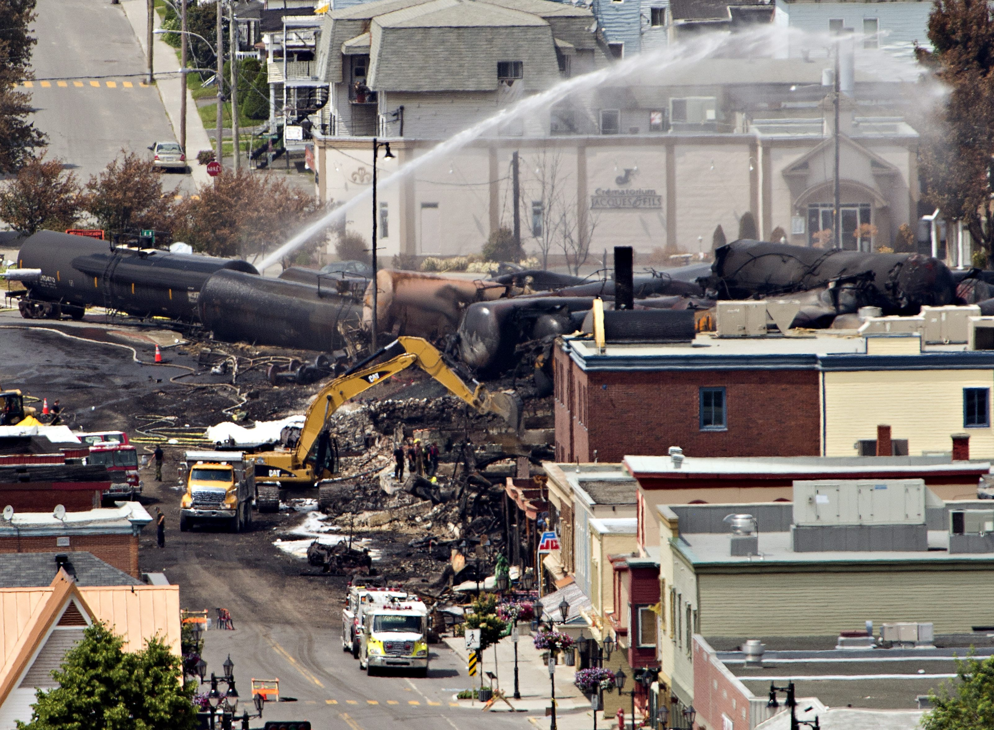 Canada train derailment probe focuses on fire hours before