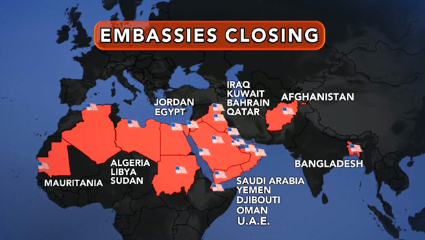 Source: Terrorists behind embassy threat in place - CBS News