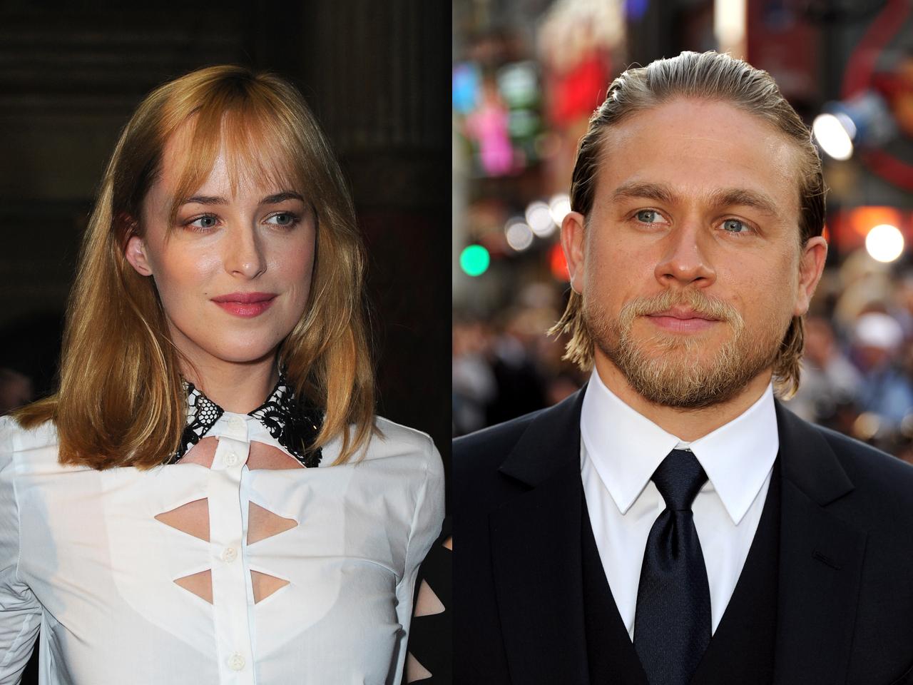 Dakota Johnson Charlie Hunnam Cast In Fifty Shades Of Grey Film