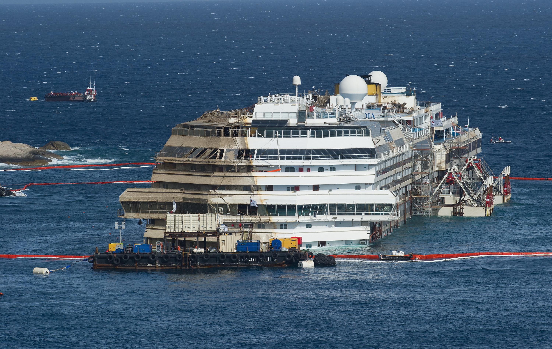 Unprecedented salvation of Costa Concordia cruise ship was