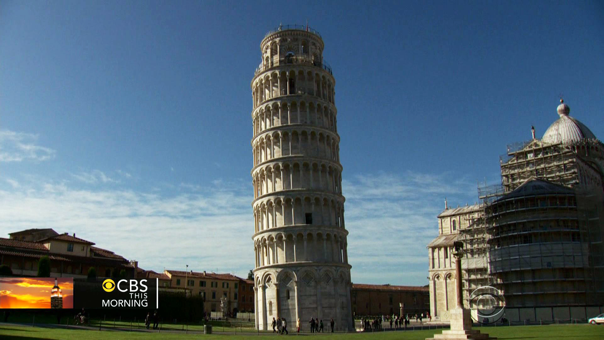 Leaning Tower Of Pisa Is Now One Inch Straighter