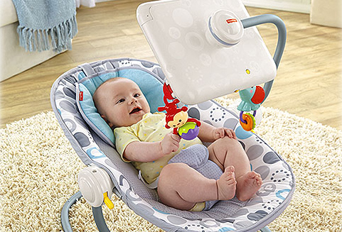 Fisher Price Baby Bouncy Seat With Ipad Attachment Subject Of Recall