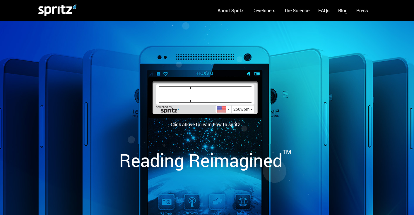 Spritz reading software helps readers to read 600 words per