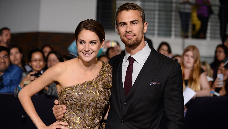 Theo James; Shailene Woodley   Hero Complex – movies ...  Shailene Woodley And Theo James Divergent Premiere