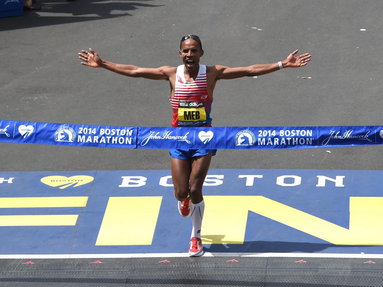 American Meb Keflezighi wins the 2014 Boston Marathon - CBS News