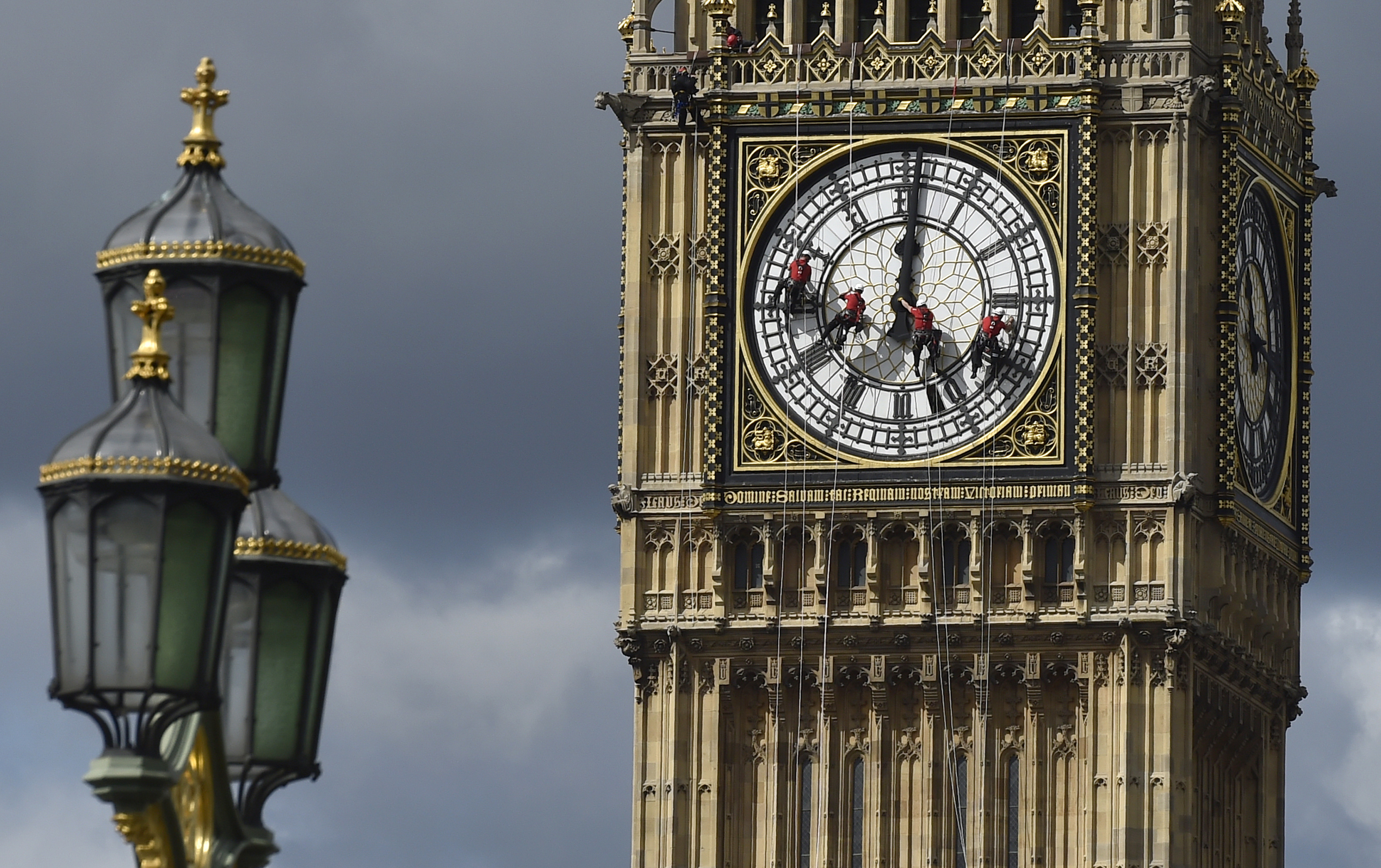 big ben and british parliament great clock in london to fall