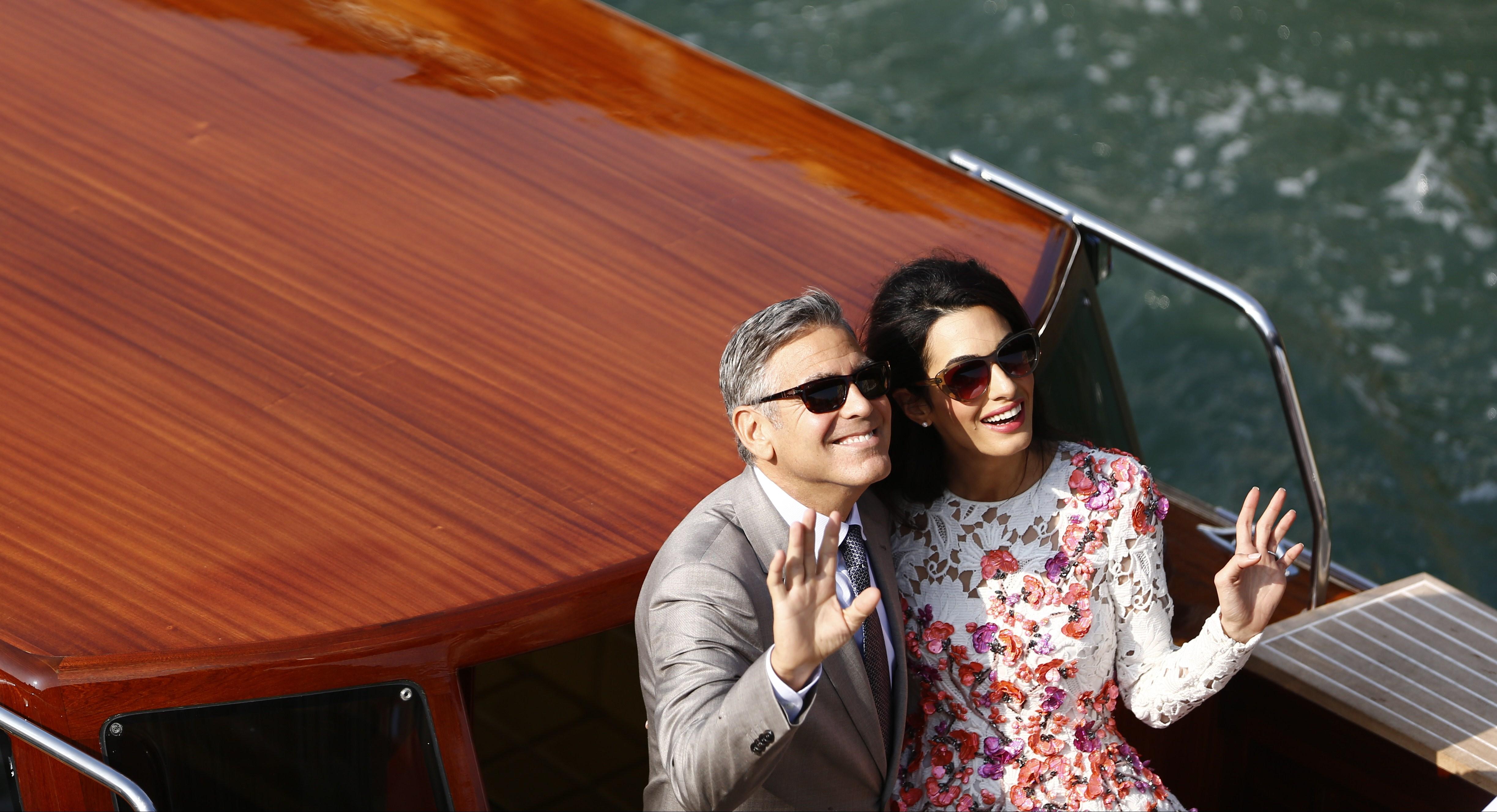 George Clooney Amal Alamuddin Step Out As Newlyweds Cbs News