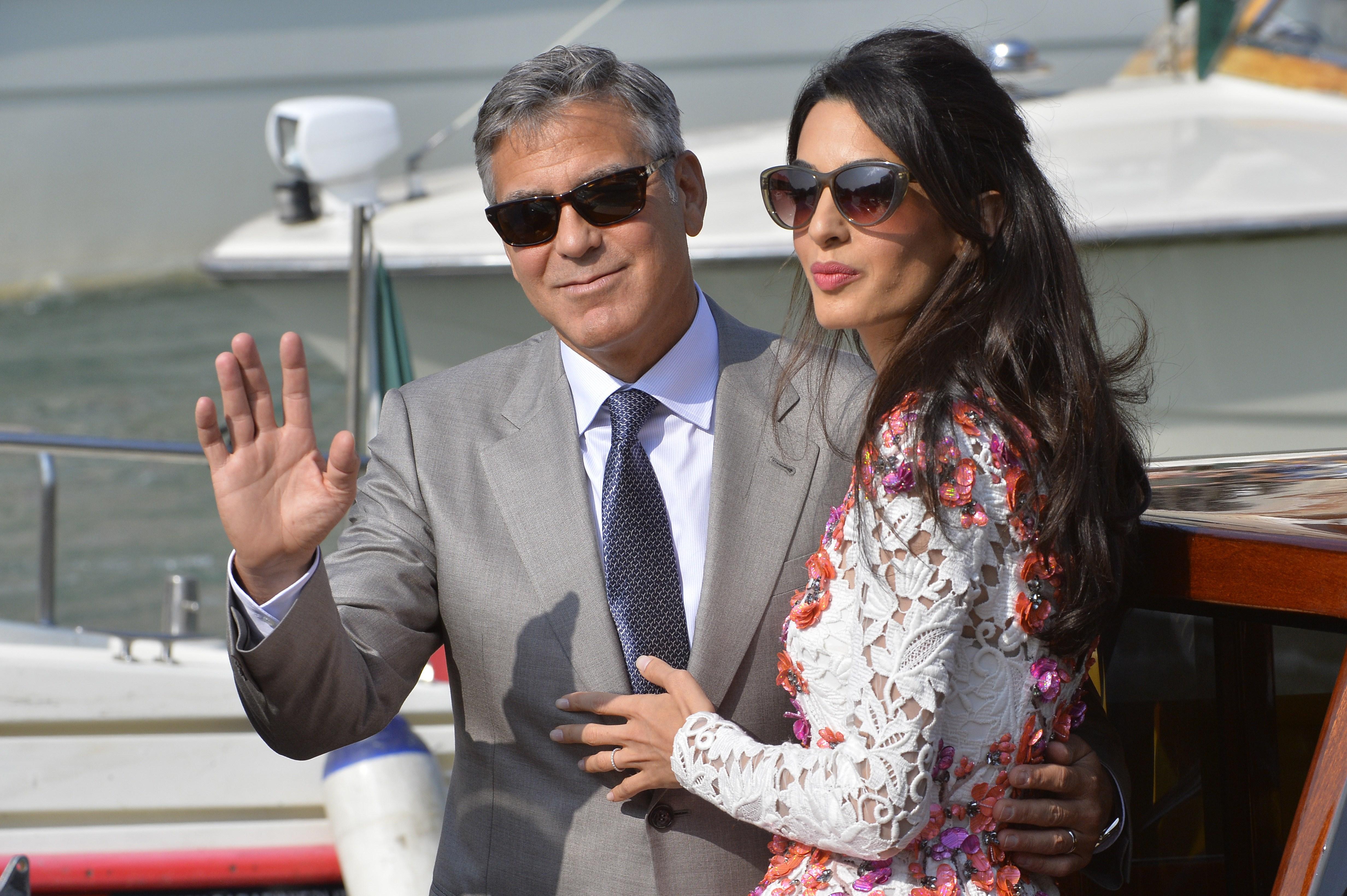 George Clooney and Amal Alamuddin's wedding photos revealed