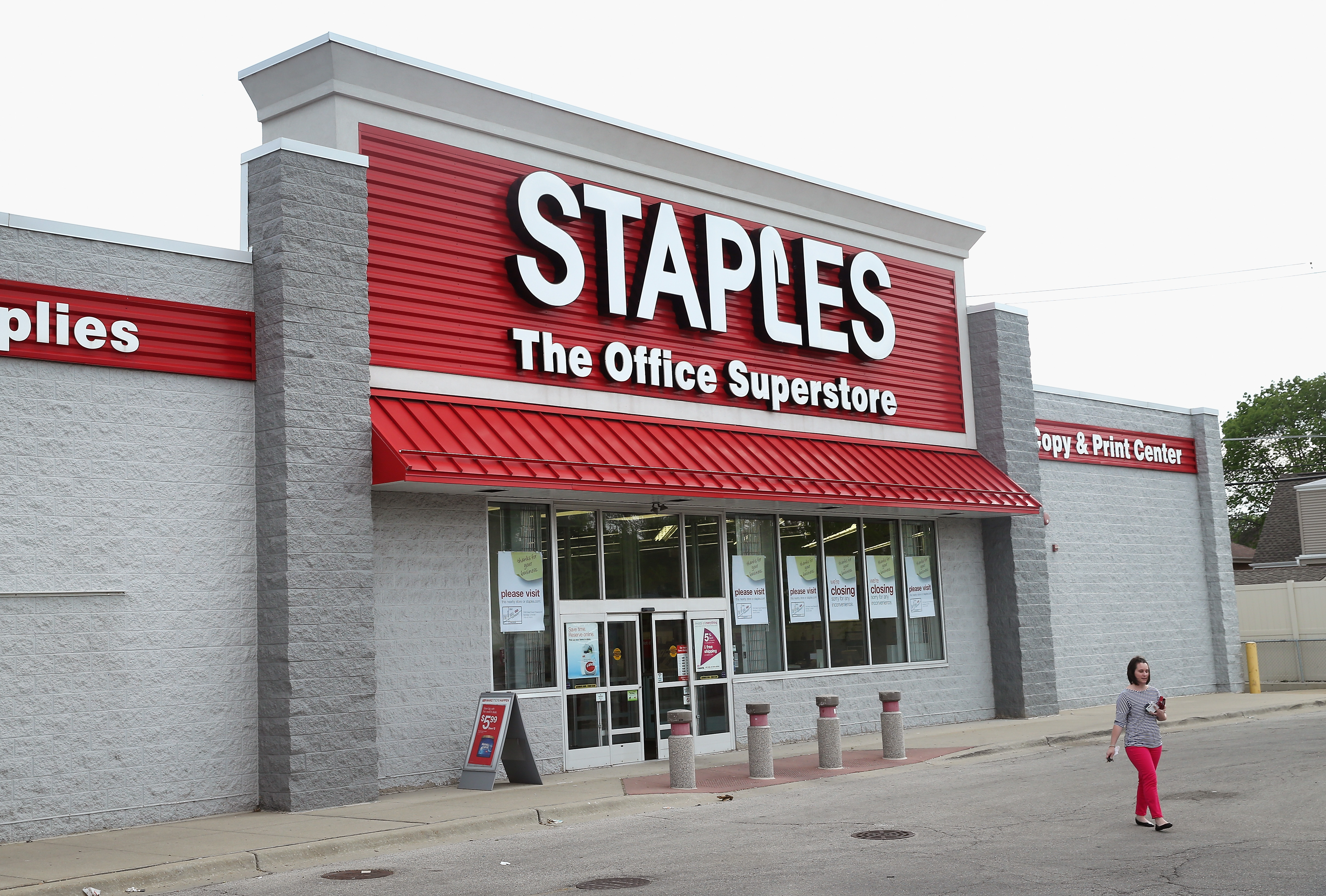 staples bought by private equity firm for $6 9 billion cbs news