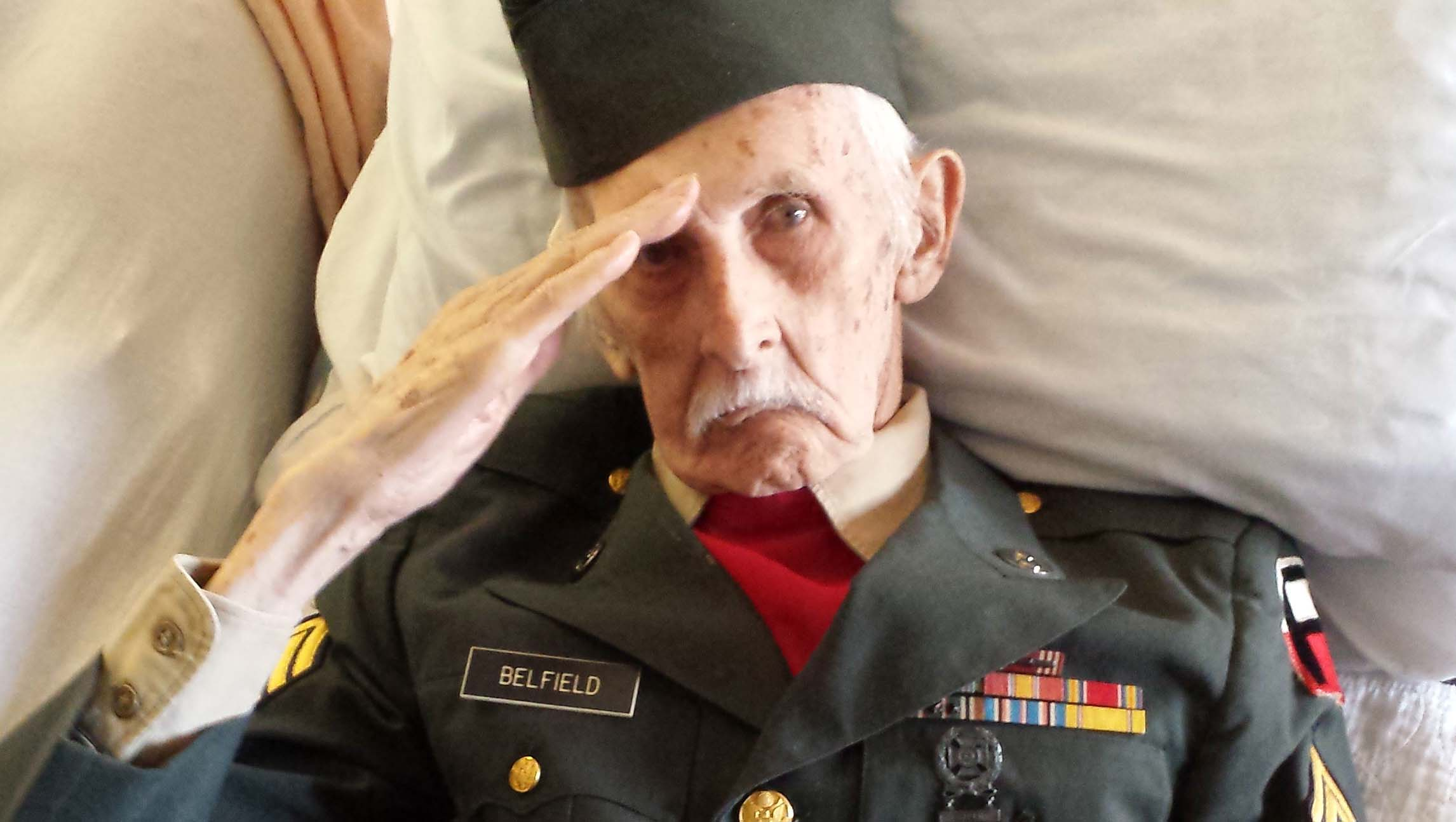 Veteran, 98, dons uniform in bed for salute hours before