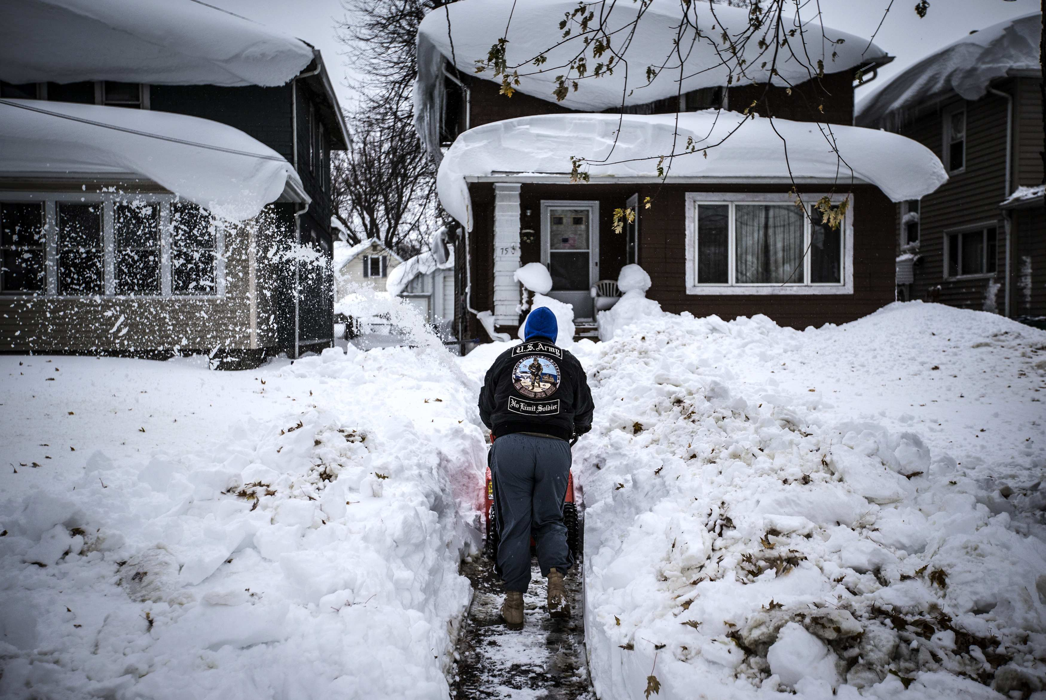 Buffalo New York Area Digs Out From Snow Ahead Of Flood