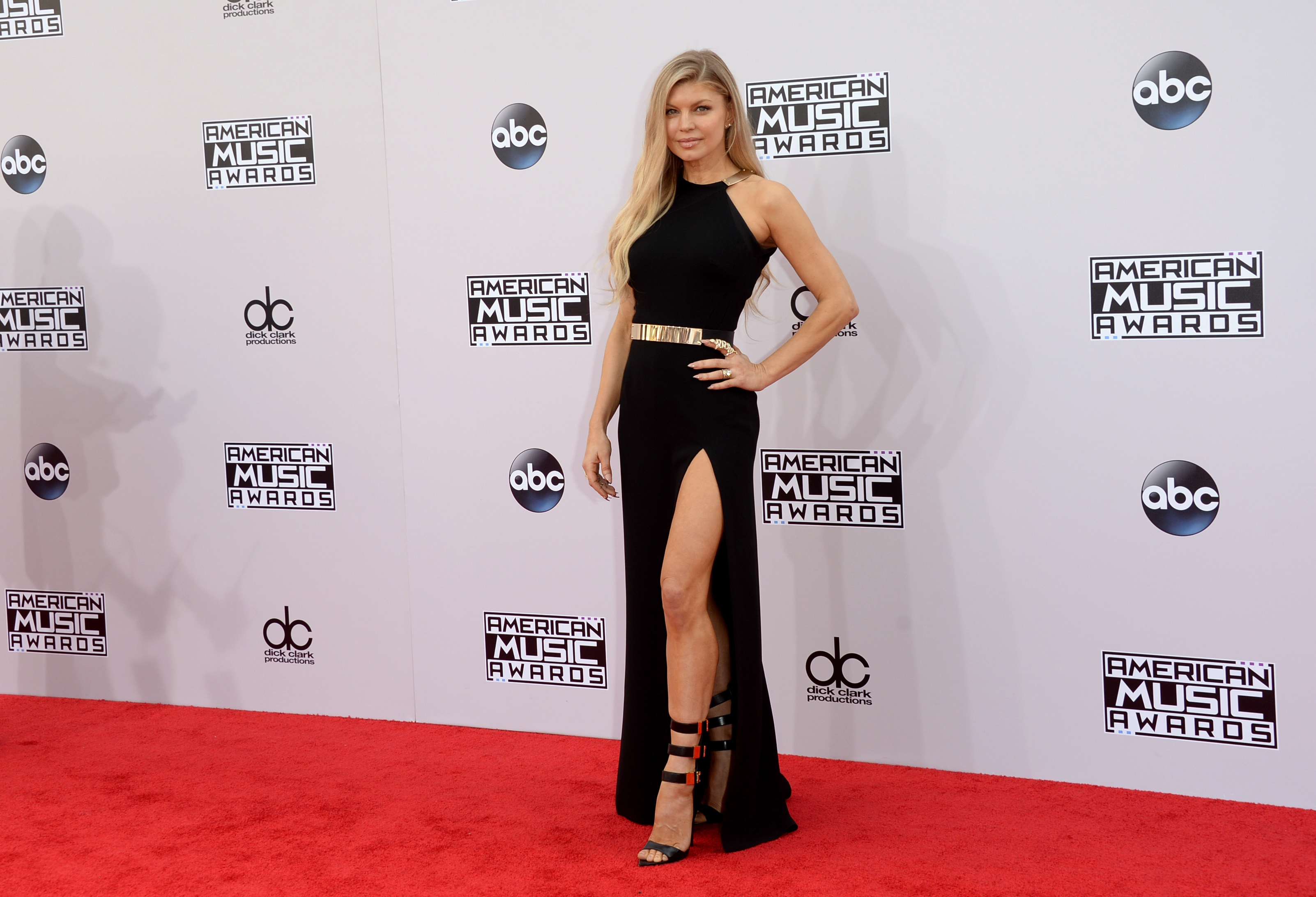 Fergie American Music Awards 2014 Red Carpet Pictures