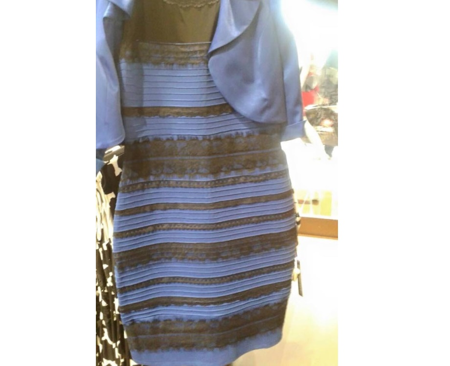 Is it blue and black or white and gold? Dress color debate ...