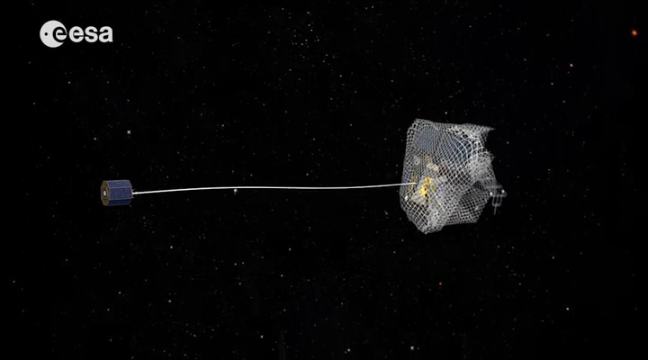 Cleaning Up Space With Giant Fishing Nets Cbs News