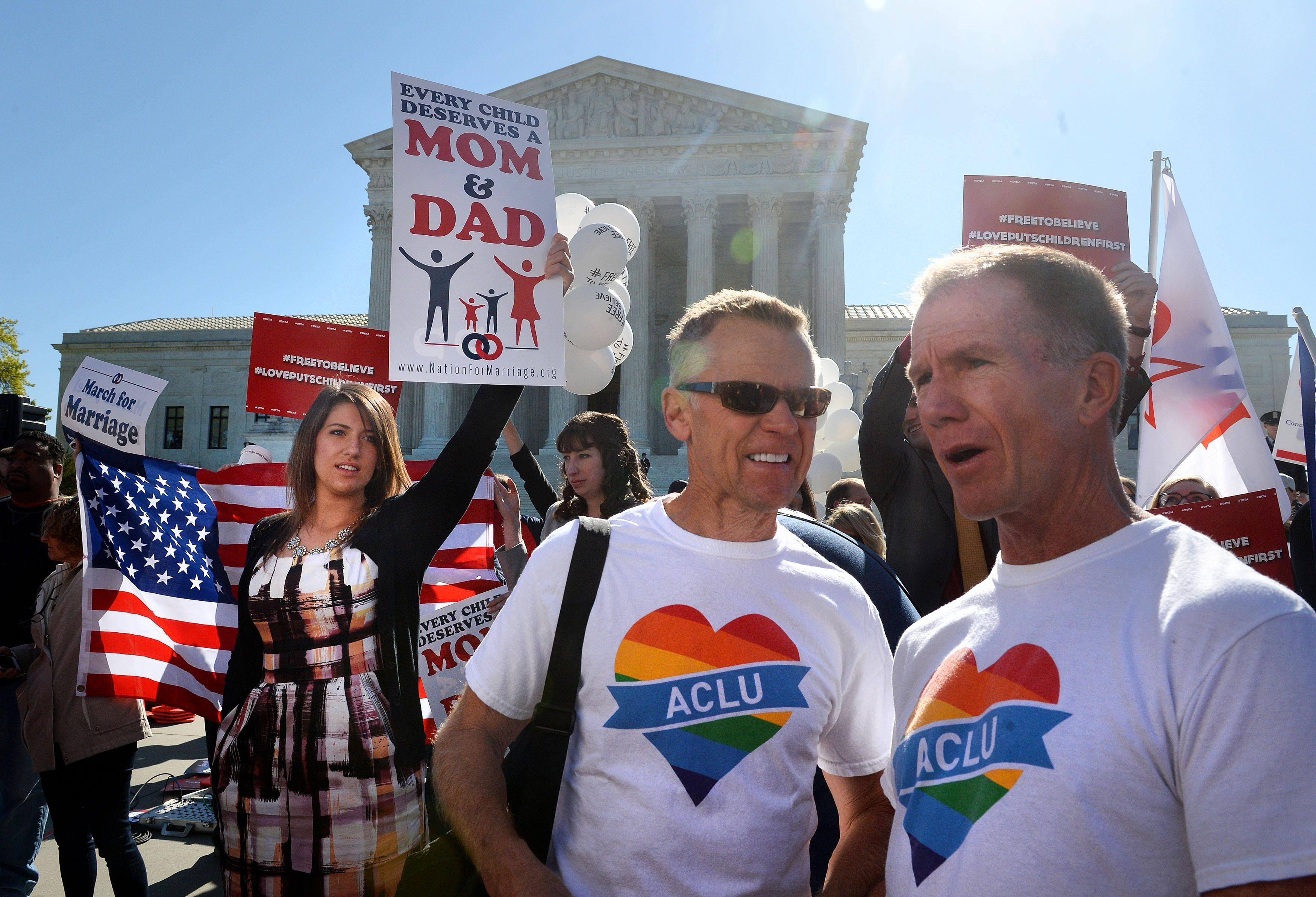 Supreme Court Hears Same-Sex Marriage Arguments - Cbs News-8965