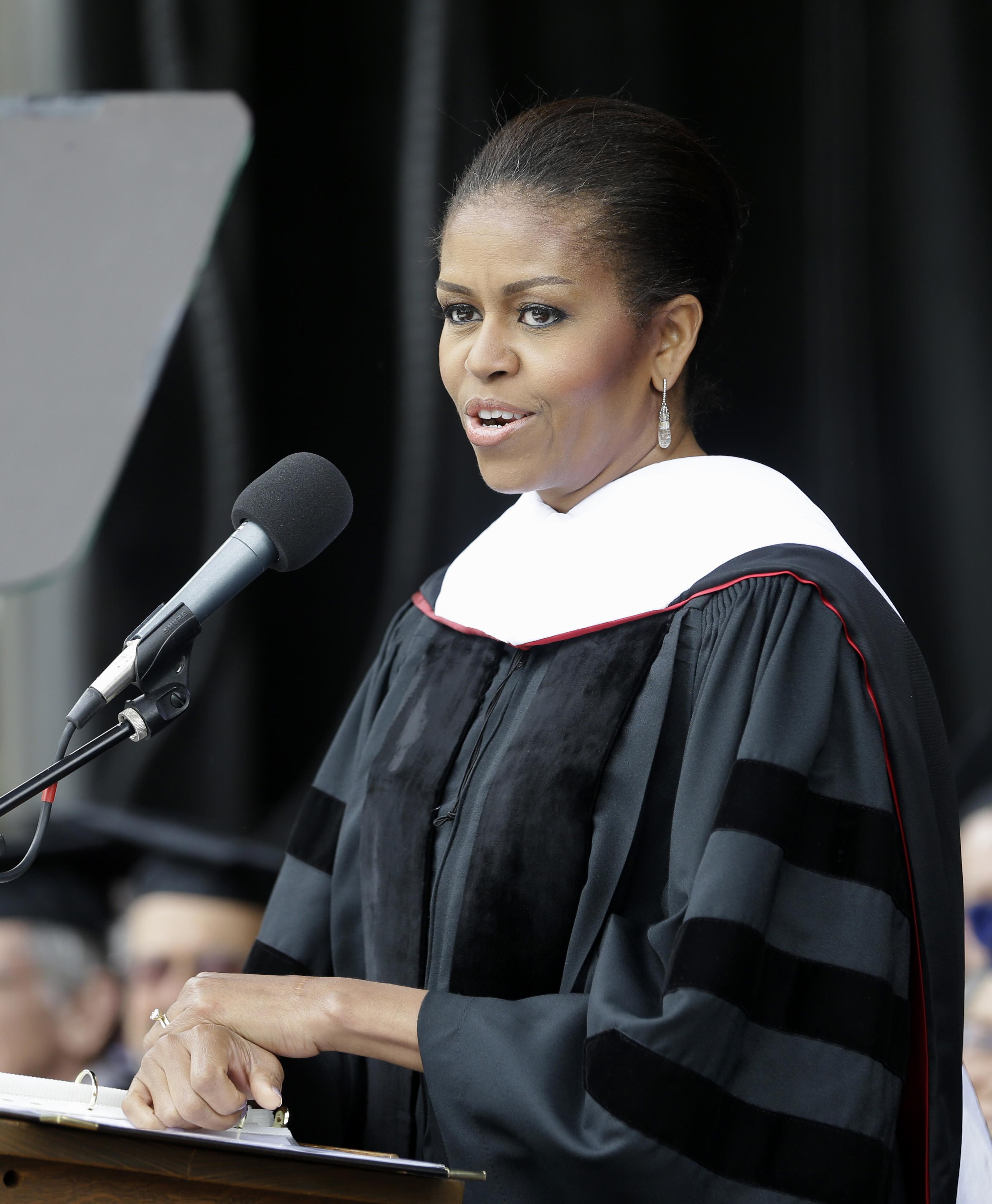michelle obama graduation speech oberlin