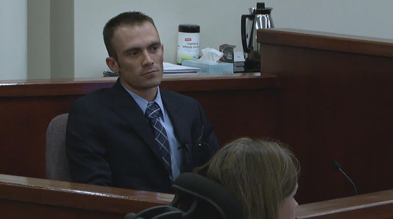 Andrew O'Brien testifies against his mother in court