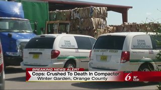 Man crushed to death in compactor at Florida recycling plant