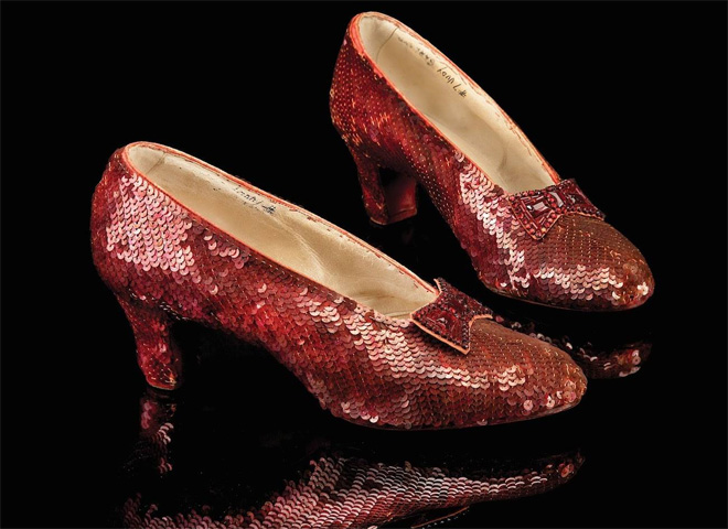 9723aa63a34 Ruby slippers found  Wizard of Oz prop stolen from the Judy Garland ...