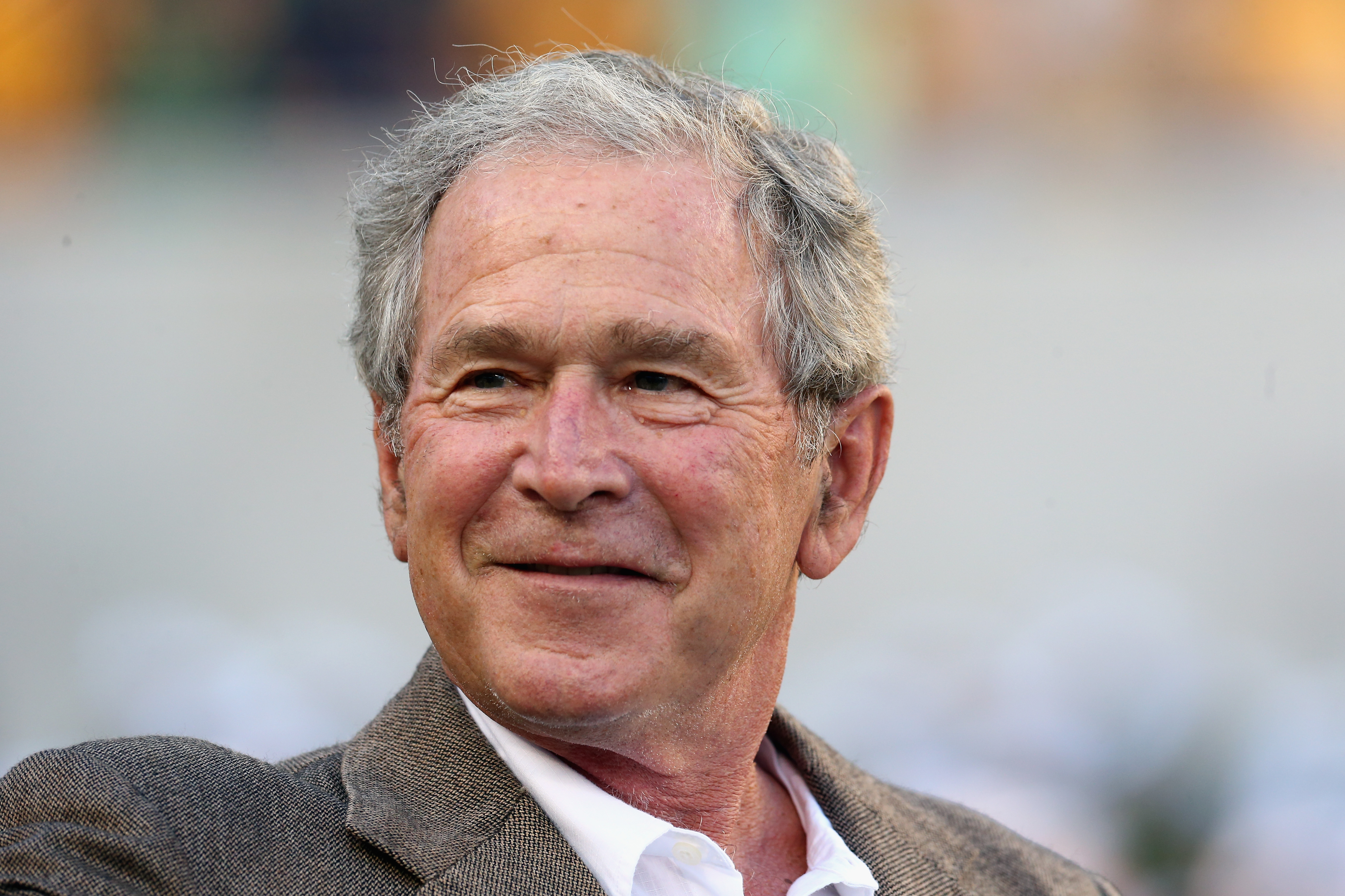 george w bush on poncho incident response to inauguration cbs news. Black Bedroom Furniture Sets. Home Design Ideas