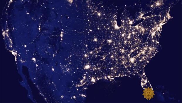 Preserving The Starry Starry Night CBS News - Us night sky map