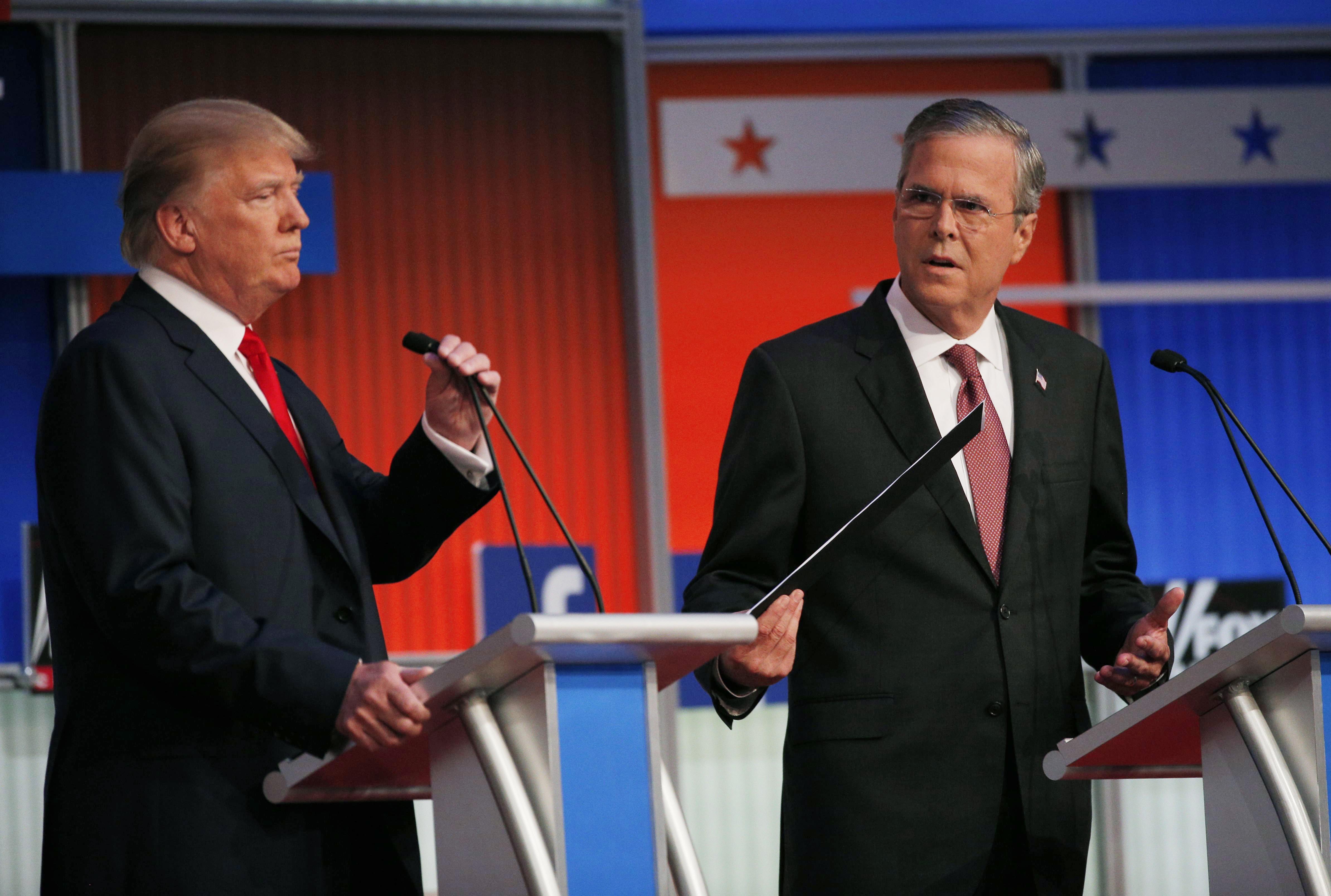 New Hampshire Republican Debate >> Election 2016: Jeb Bush strikes back at Donald Trump in Spanish - CBS News